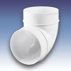 Колено 90° для круглых каналов  Пластивент 222