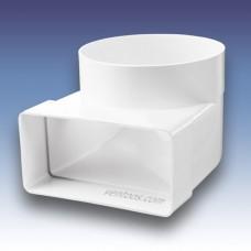 Колено 90° для круглых и плоских каналов  Пластивент 521