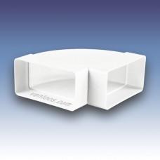Колено горизонтальное 90° для плоских каналов  Пластивент 5251