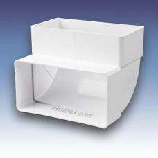 Колено вертикальное 90° для плоских каналов  Пластивент 5252