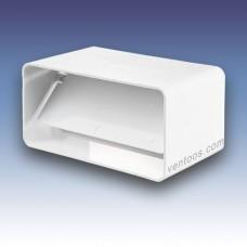 Соединитель с клапаном для плоских каналов  Пластивент 8181