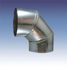 Отвод оцинкованный 100 мм - 90°