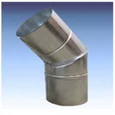 Отвод оцинкованный 100 мм - 45°