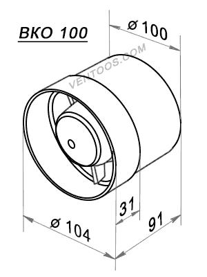 Размеры Domovent ВКО