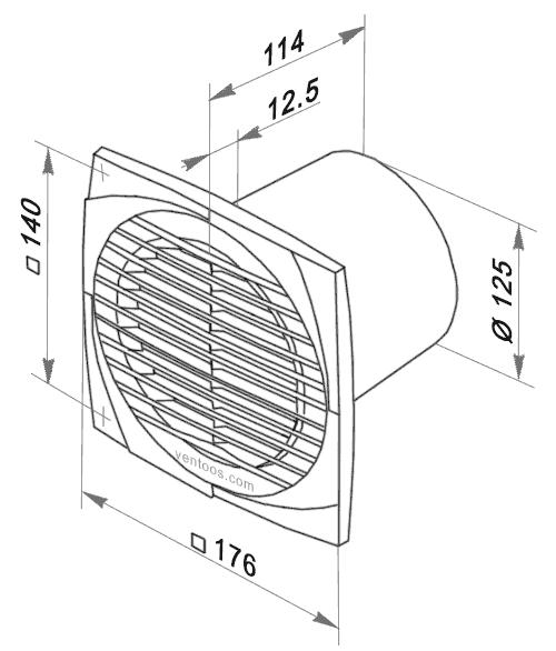 Размеры Вентс 125 д
