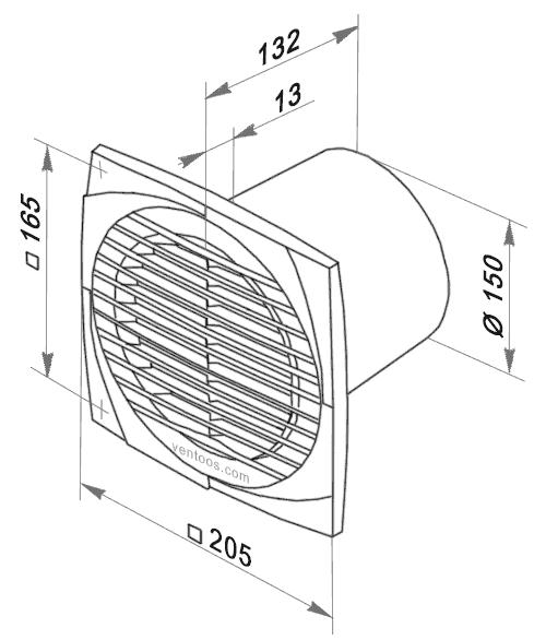 Размеры Вентс 150 д