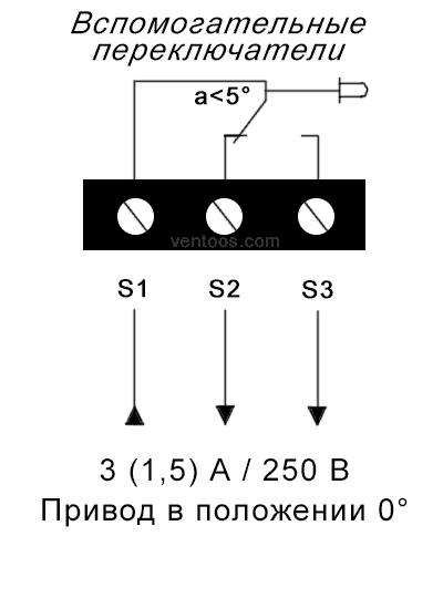 Схема для однополюсной группы переключающих контактов