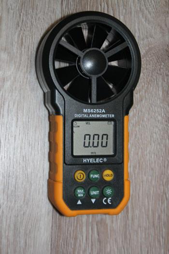 Анемометр для измерения скорости всасывания
