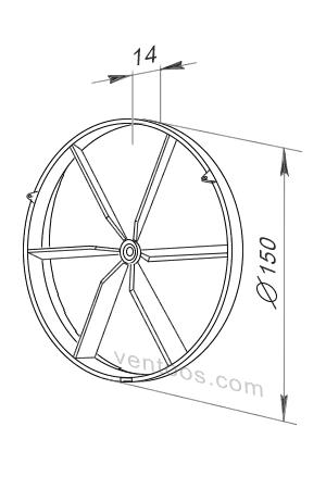 Размеры Вентс КО 150