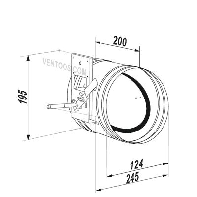 Габаритные размеры Вентс КРВ 125